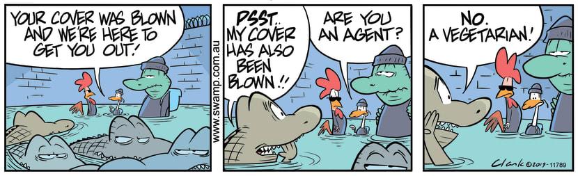 Swamp Cartoon - Old Man Croc Finds a VegetarianOctober 10, 2019