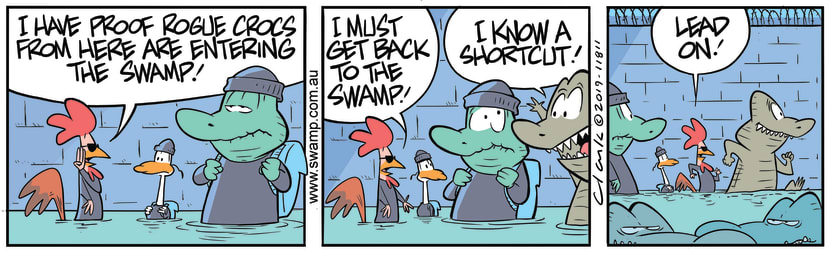 Swamp Cartoon - Shortcut to the SwampNovember 5, 2019