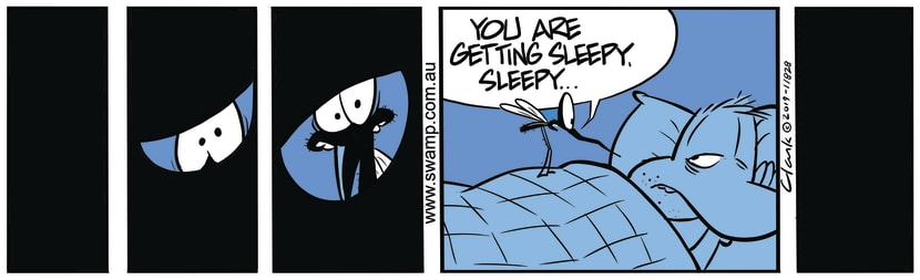 Swamp Cartoon - You're Very Sleepy says MosquitoNovember 20, 2019