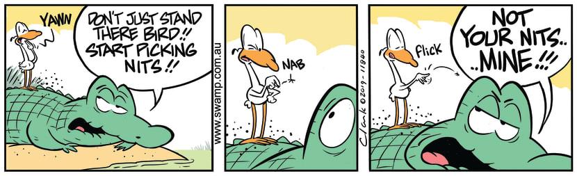 Swamp Cartoon - Start Picking NitsDecember 6, 2019