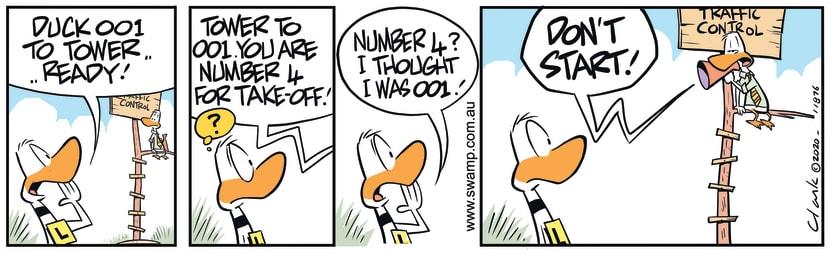 Swamp Cartoon - Ding Duck Number 4January 22, 2020