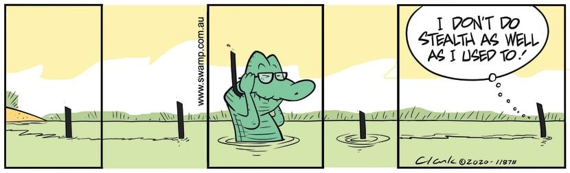 Swamp Cartoon - Old Man Croc StealthJanuary 24, 2020