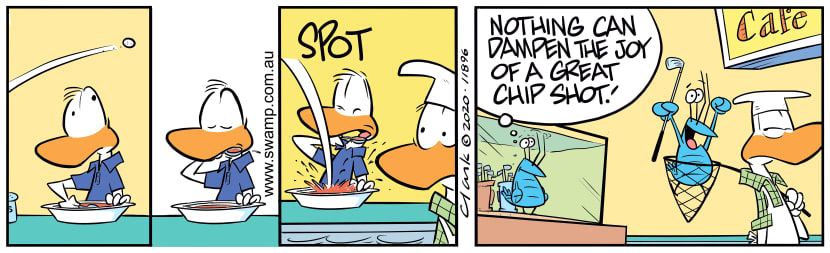 Swamp Cartoon - Bob Crayfish Chip ShotFebruary 14, 2020