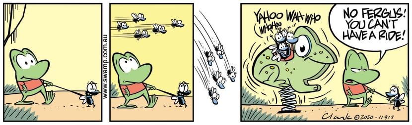 Swamp Cartoon - Fergus Fly Would Like a RideMarch 6, 2020