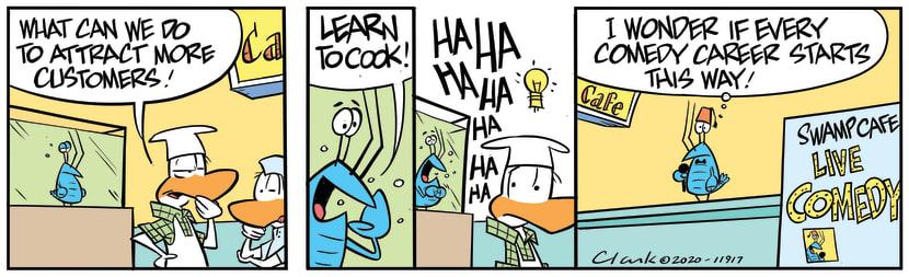 Swamp Cartoon - Bob Crayfish Comedy CareerMarch 11, 2020