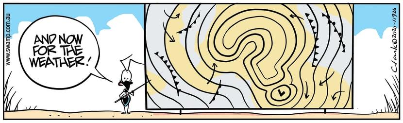 Swamp Cartoon - Ant's Weather ReportMarch 21, 2020