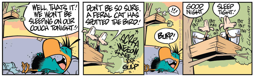 Swamp Cartoon - Feral Cat on the HuntApril 3, 2020
