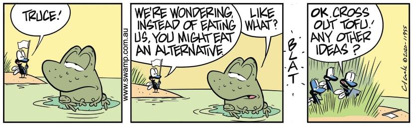 Swamp Cartoon - Wart Frog Dietary AlternativeApril 24, 2020