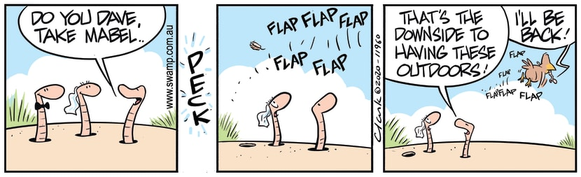 Swamp Cartoon - Worms Outdoor WeddingApril 30, 2020
