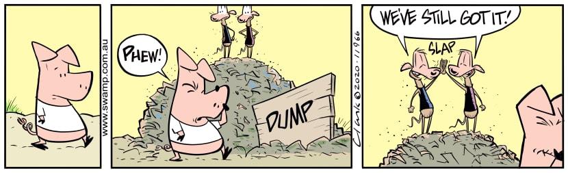 Swamp Cartoon - Yep! The Dump Still StinksMay 7, 2020