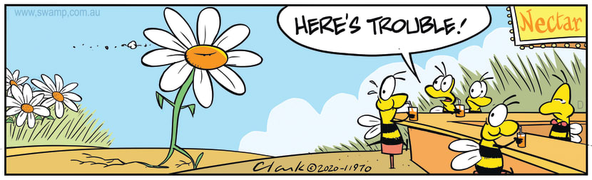 Swamp Cartoon - Flower is Angry with BeesMay 12, 2020