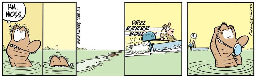 Swamp Cartoon - Nibbles Croc Gets Moss CutMay 15, 2020
