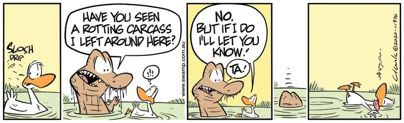 Swamp Cartoon - Nibbles Croc Rotting CarcassMay 16, 2020