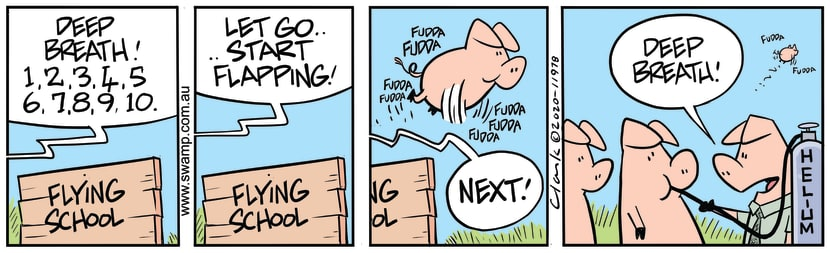Swamp Cartoon - Pigs Need Deep BreathMay 21, 2020