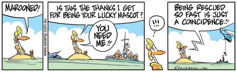 Swamp Cartoon - Lucky Mascot MaroonedMay 23, 2020