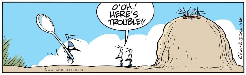 Swamp Cartoon - Angry Ant on WarpathMay 29, 2020