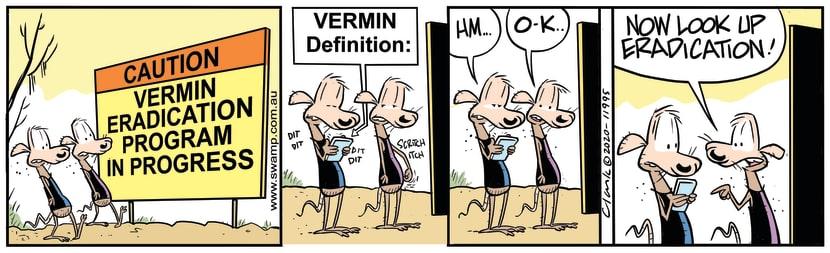 Swamp Cartoon - Vermin Eradication ProgramJune 10, 2020