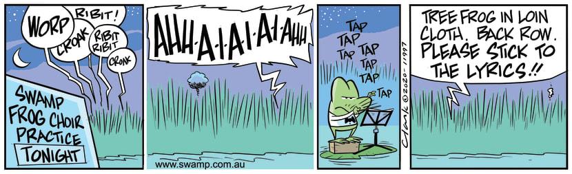 Swamp Cartoon - Swamp Frog Choir PracticeJune 12, 2020
