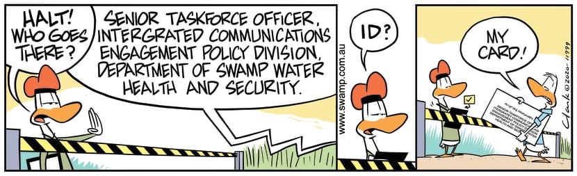 Swamp Cartoon - Senior Task Force OfficerJune 15, 2020