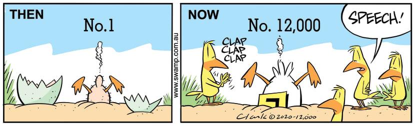Swamp Cartoon - Ding Duck Marks 12000th CartoonJune 16, 2020