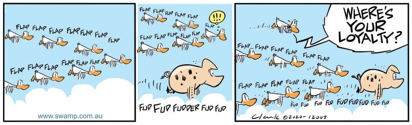 Swamp Cartoon - New Flight Leader….PigJune 19, 2020