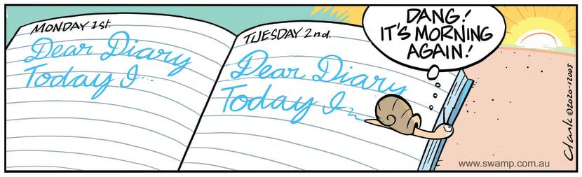 Swamp Cartoon - Snail's Diary NotesJune 22, 2020
