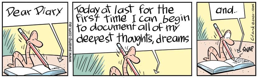 Swamp Cartoon - Worm's Deepest ThoughtsJune 23, 2020