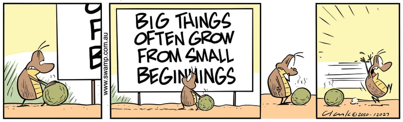 Swamp Cartoon - Small Dung Balls Become LargeJuly 17, 2020