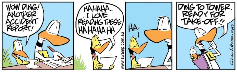 Swamp Cartoon - Ding Duck Has PassengerJuly 25, 2020