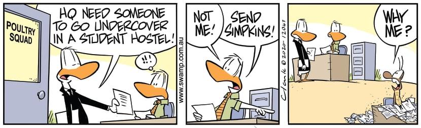 Swamp Cartoon - Need Undercover AgentAugust 5, 2020