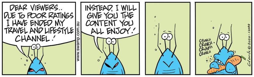 Swamp Cartoon - Bob Crayfish Poor RatingsAugust 11, 2020