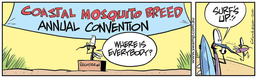 Swamp Cartoon - Coastal Mosquito BreedAugust 14, 2020