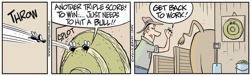 Swamp Cartoon - Another Triple ScoreAugust 19, 2020