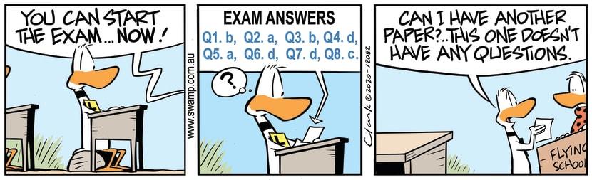 Swamp Cartoon - Ding Duck Start Exam NowSeptember 19, 2020