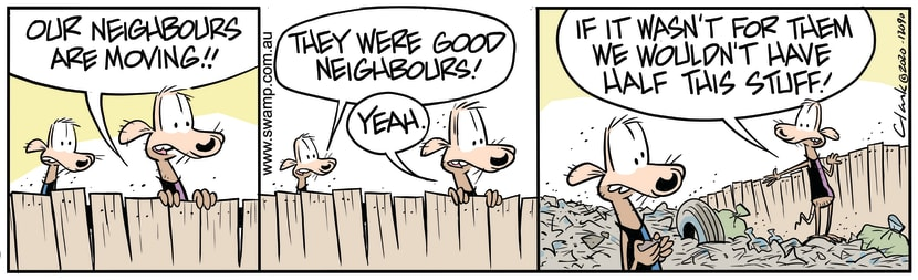 Swamp Cartoon - Neighbours are Moving OutSeptember 29, 2020