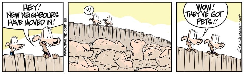 Swamp Cartoon - Cheese & Chives Have New NeighboursSeptember 30, 2020