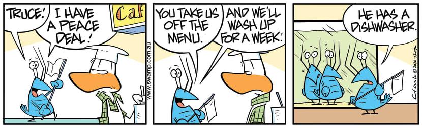 Swamp Cartoon - Crayfish Off The MenuOctober 3, 2020