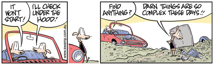 Swamp Cartoon - Cheese and Chives Car Won't StartOctober 9, 2020