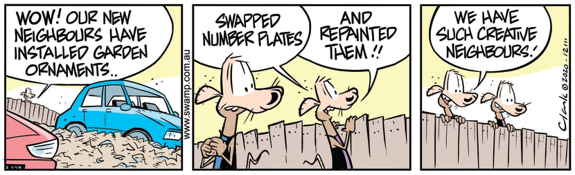 Swamp Cartoon - Cheese and Chives New NeighboursOctober 24, 2020