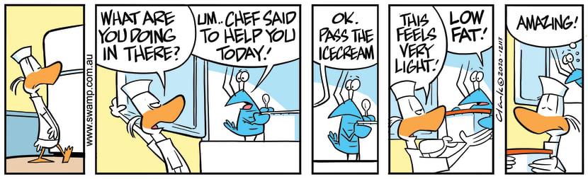 Swamp Cartoon - Bob Crayfish Helps Apprentice ChefOctober 27, 2020