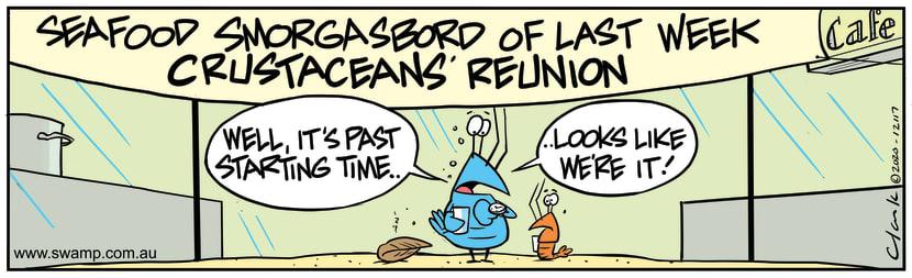 Swamp Cartoon - Seafood SmorgasbordOctober 30, 2020