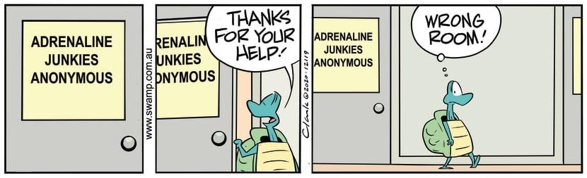 Swamp Cartoon - Adrenalin Junkies AnonymousNovember 2, 2020