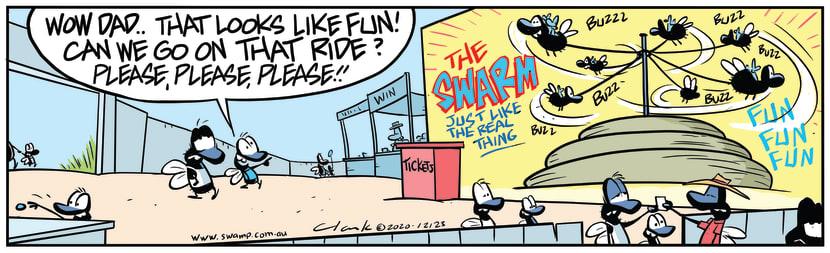 Swamp Cartoon - Flies Cowpat Fun RideNovember 5, 2020