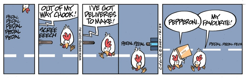 Swamp Cartoon - Chicken Crossing The RoadNovember 6, 2020
