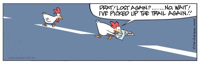 Swamp Cartoon - Chickens Think They are Lost AgainNovember 9, 2020