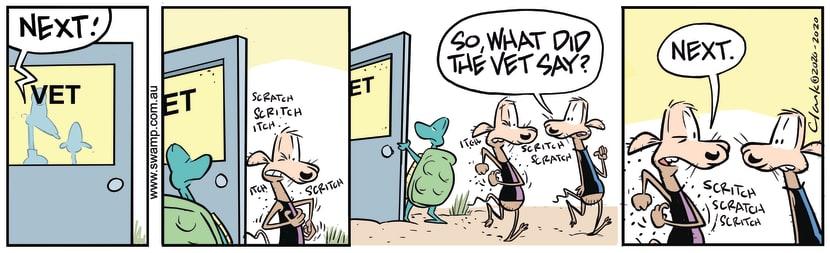 Swamp Cartoon - Chives Rat ScratchingNovember 11, 2020