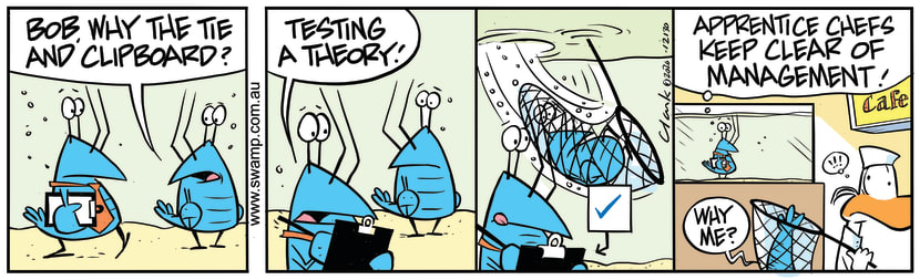 Swamp Cartoon - Bob Crayfish Becomes ManagementNovember 14, 2020