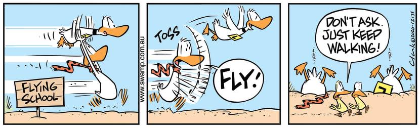 Swamp Cartoon - Ding Duck Take-off AssistanceNovember 20, 2020