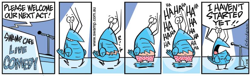 Swamp Cartoon - Bob Crayfish Comedy NightNovember 21, 2020