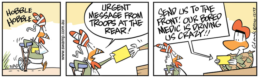 Swamp Cartoon - Urgent Message From TroopsNovember 25, 2020